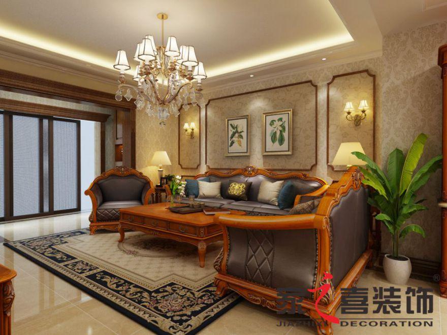 大奖app中大奖app下载网址案例香樟家园 美式风格 120㎡